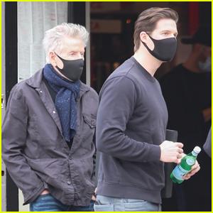 Calvin Klein & Boyfriend Kevin Baker Enjoy Lunch Outside Together in West Hollywood