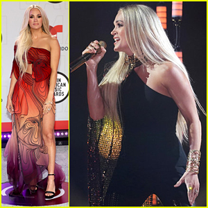 Carrie Underwood Makes Her Latin AMAs Debut, Stuns on Red Carpet in Butterfly Gown!
