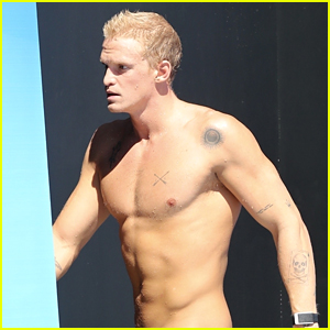 Cody Simpson Leaves Little to the Imagination in a Speedo During Swim Practice