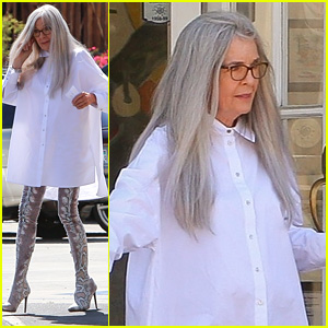 Diane Keaton Looks So Different On The Set of 'Mack & Rita' in Palm Springs!