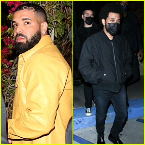 Drake Shaved a Heart Into His Hair, Spotted with Other Stars in L.A.