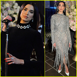 Dua Lipa Wears Two Stunning Outfits While Performing at Elton John's Oscars Party!