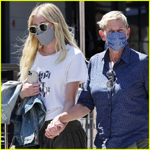 Ellen DeGeneres & Portia de Rossi Hold Hands During Trip to Farmer's Market