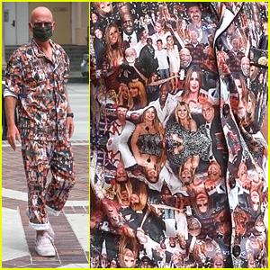Howie Mandel Wears A Suit Full of Fellow 'AGT' Judges Faces!