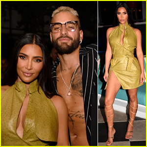 Kim Kardashian Hangs Out with Shirtless Maluma While Attending First Public Event in Over a Year!