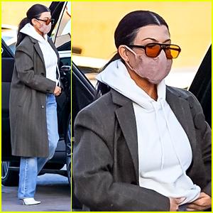 Kourtney Kardashian Stops By Nobu Following Steamy PDA Pic With Travis Barker