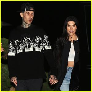 Kourtney Kardashian & Travis Barker Hold Hands on Date Night!