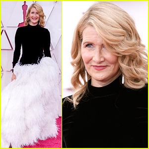 Laura Dern Wears Full Feather Skirt To Oscars 2021