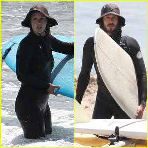 Leighton Meester & Adam Brody Catch a Few Waves in Malibu!