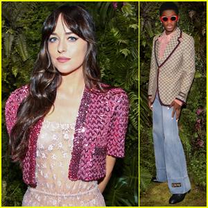 Dakota Johnson & Lil Nas X Look Chic at Digital Screening of Gucci Aria