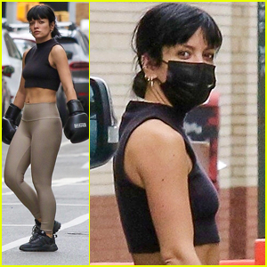 Lily Allen Gets In An Intense Boxing Workout in NYC