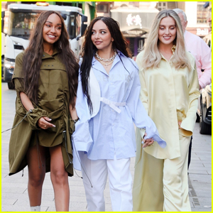 Little Mix Hold Hands as They Step Out as a Trio