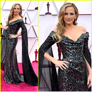 Marlee Matlin Channels Morticia Addams With Split Sleeves In Her Oscars 2021 Dress!