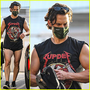 Milo Ventimiglia Flaunts His Muscular Legs in Short Shorts After a Workout!