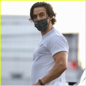 Milo Ventimiglia Shows Off His Muscles Wearing a Tight T-Shirt to the Gym