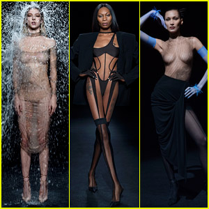 Mugler's New Collection Is Brought to Life by Hunter Schafer, Dominique Jackson, Bella Hadid, & More - See the Fierce Photos