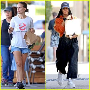 Natalie Portman & Tessa Thompson Take A Break From 'Thor: Love & Thunder' Set To Run Errands