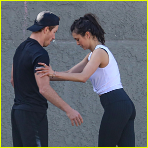 Nina Dobrev & Shaun White Work Up a Sweat Together During Outdoor Gym Session
