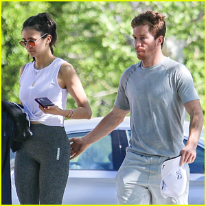 Nina Dobrev Kicks Off The Week With A Workout With Boyfriend Shaun White