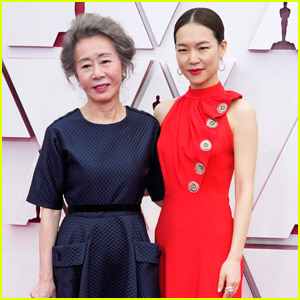Supporting Actress Nominee Youn Yuh-Jung & 'Minari' Co-Star Yeri Han Arrive Together at the Oscars 2021