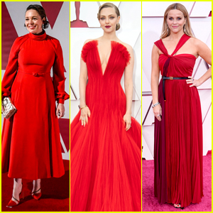 Amanda Seyfried, Olivia Colman, Reese Witherspoon & More Go Bold in Red for the 2021 Oscars!