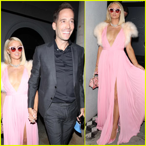 Paris Hilton Goes Pretty in Pink for Pre-Oscars Party with Fiance Carter Reum!