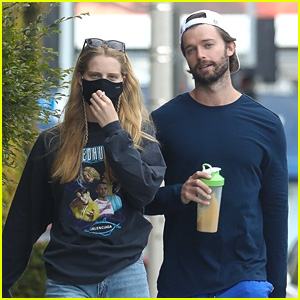 Patrick Schwarzenegger Grabs Coffee With Abby Champion After Revealing His Weight Goal For 2021