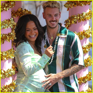 Pregnant Christina Milian Celebrates the Opening of Her Beignet Box Cafe with Husband Matt Pokora