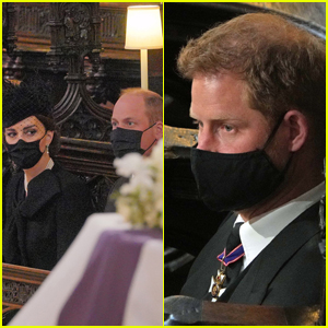 Prince William & Prince Harry Sat On Opposite Sides of the Chapel at Prince Philip's Funeral (Inside Photos)