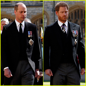 Prince Wiliam & Prince Harry Reunite, Walk Together in Prince Philip's Funeral Procession (Photos)