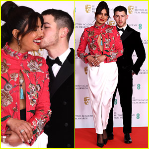 Priyanka Chopra & Nick Jonas Share a Sweet Moment on BAFTAs 2021 Red Carpet