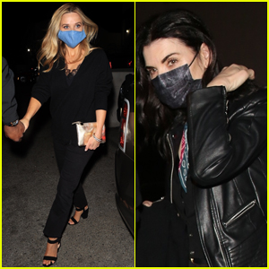 'The Morning Show' Co-Stars Reese Witherspoon & Julianna Margulies Enjoy Dinner Together in West Hollywood