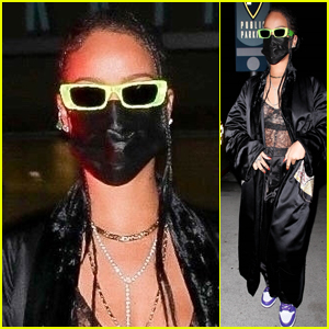 Rihanna Is Stylish in a See-Through Look at Dinner in Beverly Hills