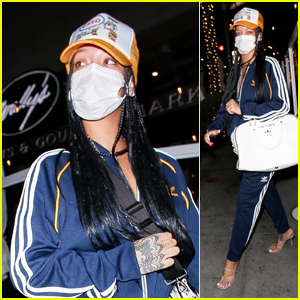 Rihanna Rocks a Tracksuit While Grabbing Dinner in Beverly Hills
