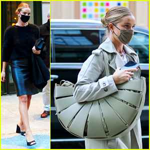 Rosie Huntington-Whiteley Carries A Huge Purse in NYC