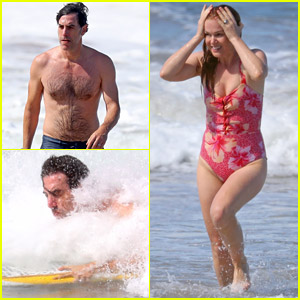 Sacha Baron Cohen Tries Surfing in Australia, Gets Caught Up in a Wave!