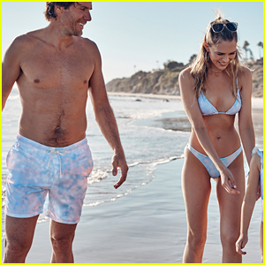 Sara Foster & Tommy Haas Flaunt Beach Bodies in Matching Swimwear That She Designed!