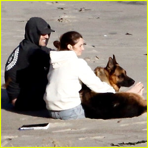 Shailene Woodley & Aaron Rodgers Cuddle Their Dog at the Beach in Cute New Photos!