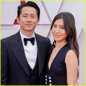Steven Yeun is Supported by Wife Joana Pak on the Oscars 2021 Red Carpet