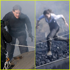 Tom Cruise & Hayley Atwell Film Intense Action Scenes on Top of a Moving Train for 'Mission: Impossible 7'!