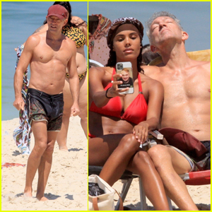 'Black Swan' Actor Vincent Cassel & Wife Tina Kunakey Bare Their Hot Bodies at the Beach!