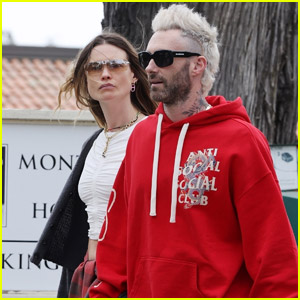 Adam Levine Shows Off Bleached Blonde Hair While Out with Wife Behati Prinsloo!