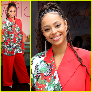 Pregnant Amber Stevens West Steps Out For 'Run The World' Premiere Event With Cast in NYC