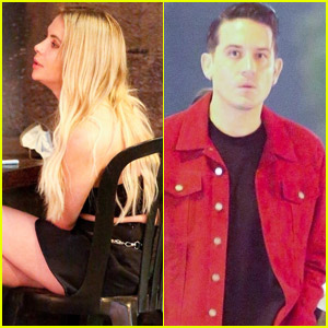 Ashley Benson & G-Eazy Grab Dinner with Friends After Getting Back Together