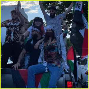 Bella Hadid Joins Protest in NYC in Support of Palestine