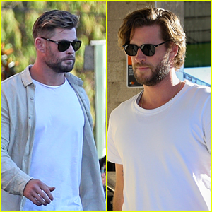 Brothers Chris & Liam Hemsworth Almost Twin While Out To Dinner Together in Sydney