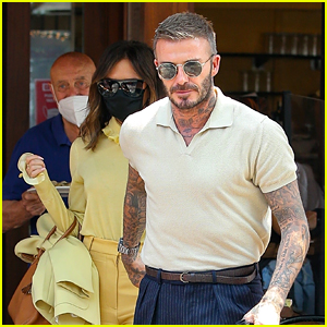 Victoria & David Beckham Coordinate Their Looks While Grabbing Lunch Before Leaving NYC