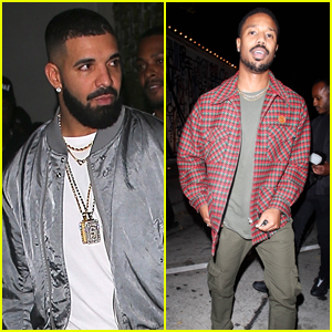 Drake & Michael B. Jordan Grab Dinner Together in L.A.