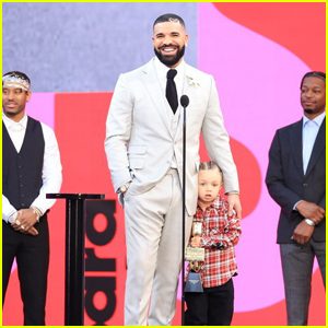 Drake Shares the Stage With Adorable Son Adonis While Accepting Artist of the Decade Award at BBMAs 2021