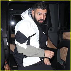 Drake Arrives for a Late Night Dinner in Santa Monica